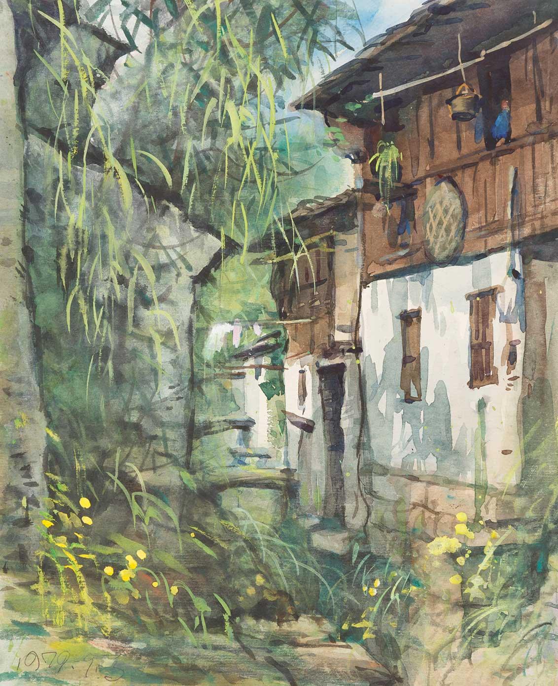 旅する画伯が描いた36年前の江南水郷の原風景_b0235153_1515022.jpg