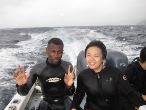10月10日ギリっギリの真栄田岬ダイビング&スノーケル_c0070933_21192894.jpg