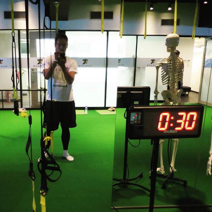 タイカンズで体幹トレーニング、もう二回目_c0060143_19160881.jpg