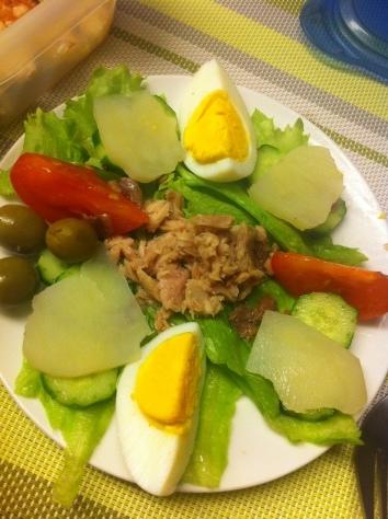 ハッピークッキング・・・フランス料理「鶏肉のグラタン、サラダニソワーズ」_f0141419_08555796.jpg