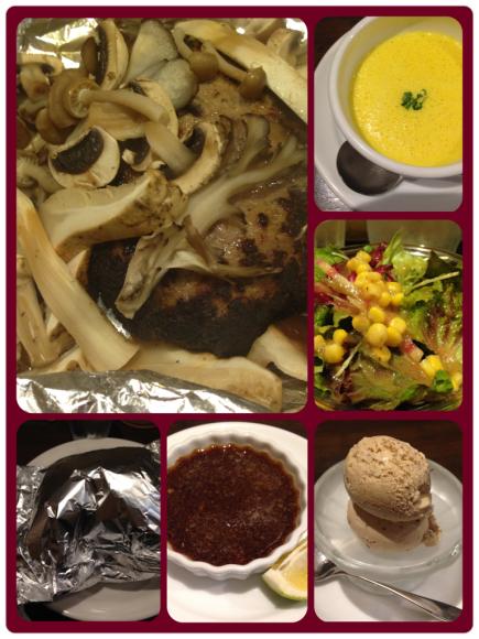 秋の味覚たっぷりハンバーグディナー@洋食おかだ_b0065587_15303019.jpg