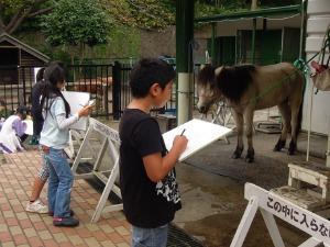 馬の写生会_d0322102_11435968.jpg