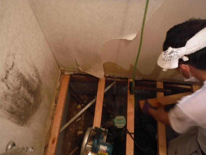 トイレ工事 ~ 床づくり_d0165368_2322357.jpg