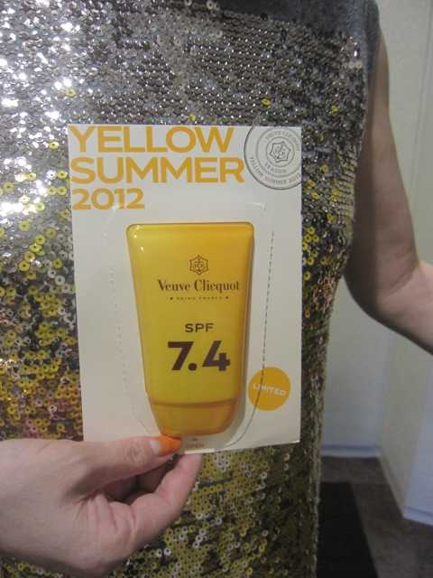 ヴーヴ・クリコ「Yellow Summer 2012」Party♪_d0339889_12051093.jpeg