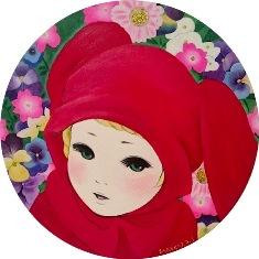 2015/11/18ー29「進川桜子展 花謳う少女たち」 【絵画】_e0091712_1613462.jpg