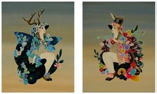 2015/11/18ー29「進川桜子展 花謳う少女たち」 【絵画】_e0091712_1614078.jpg