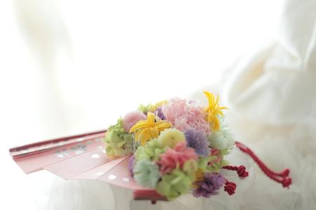 ネットDEガレージセール2 プリザーブドの扇子ブーケ(桜柄)と、白のリングピロー_a0042928_1275558.jpg
