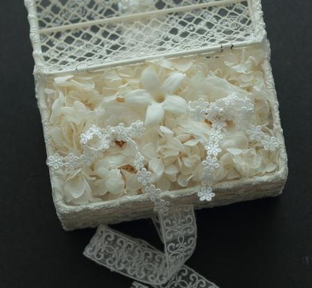 ネットDEガレージセール2 プリザーブドの扇子ブーケ(桜柄)と、白のリングピロー_a0042928_1285037.jpg