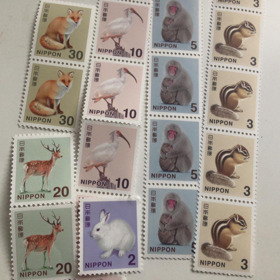 small sum of stamps are japanese beaty♡_b0195783_1365718.jpg