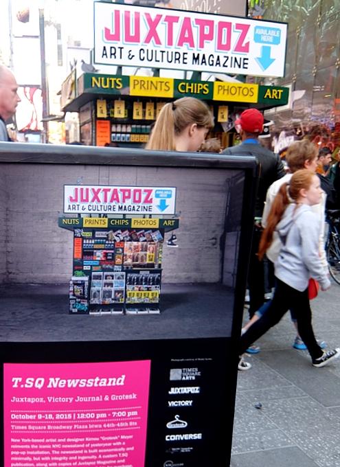 NYのタイムズ・スクエアに昔ながらのレトロなニュース・スタンドのアート作品、登場中_b0007805_19442158.jpg