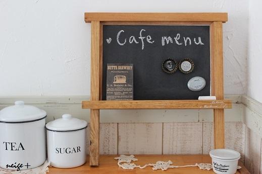 セリア100円リメイク雑貨:黒板とマグネットが合体なcafe風ボード♪_f0023333_21360929.jpg