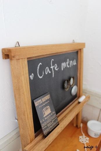 セリア100円リメイク雑貨:黒板とマグネットが合体なcafe風ボード♪_f0023333_21362118.jpg