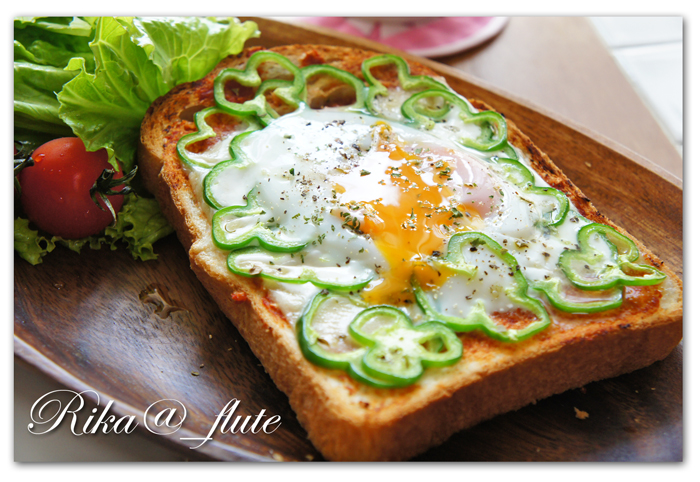 とろ~りチーズと目玉焼き朝ごパン_c0103827_11583113.jpg