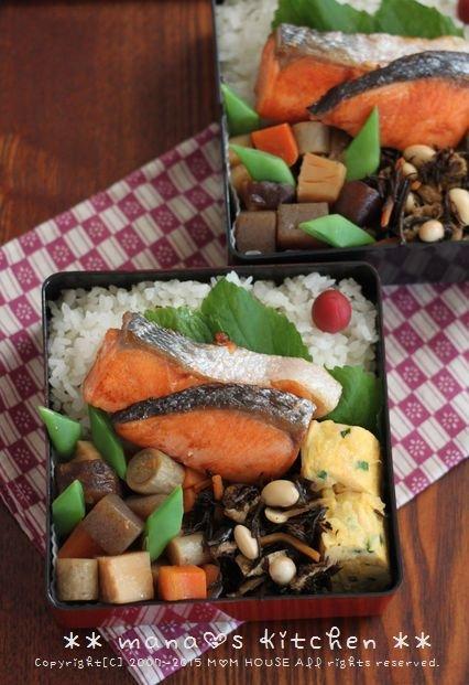 焼き鮭と常備菜弁当 ✿ ちんぬくじゅーしぃ♪_c0139375_11144579.jpg