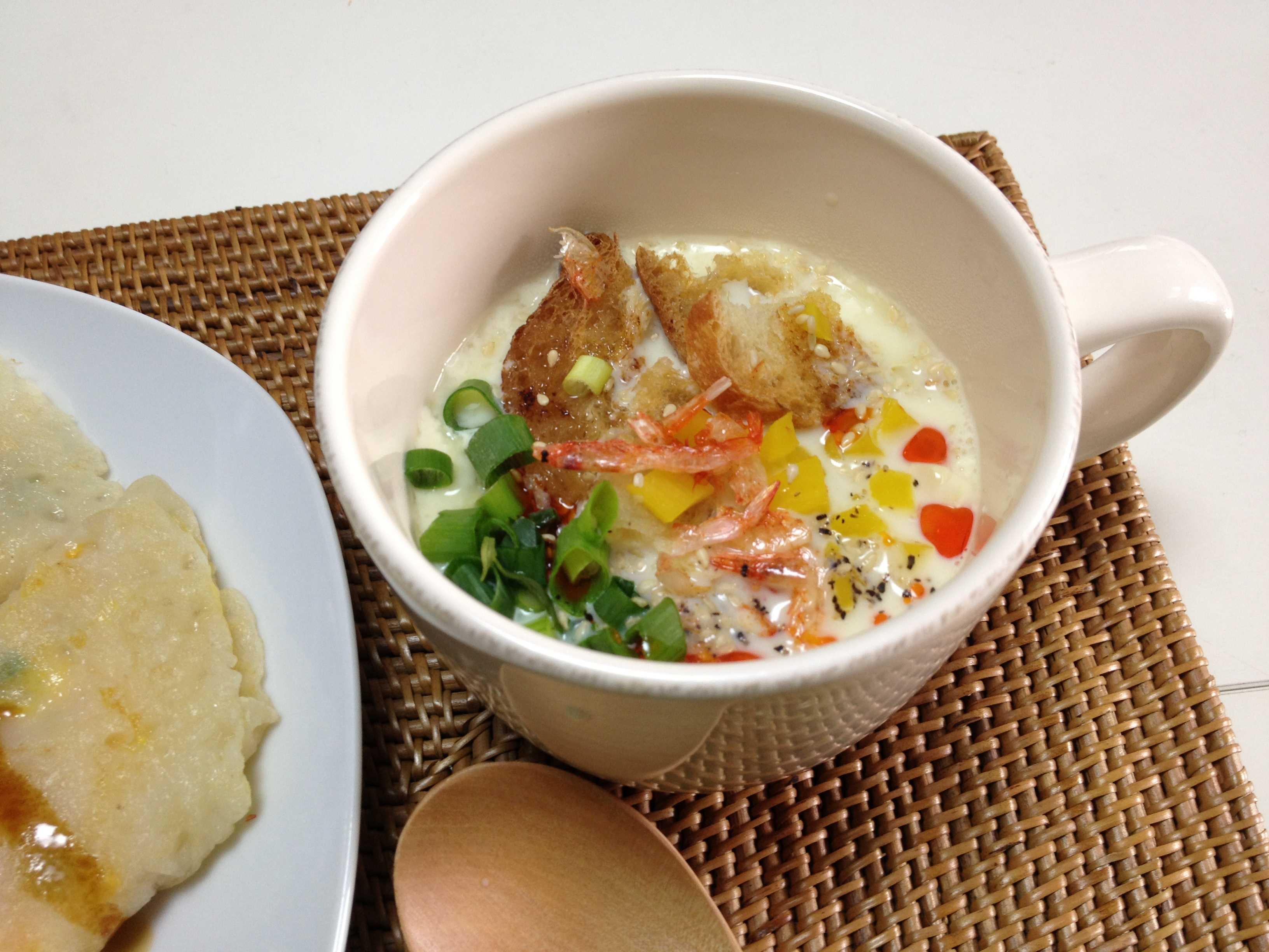 【簡単レシピ】鹹豆漿(台湾風豆乳スープ)_d0339678_12355943.jpg