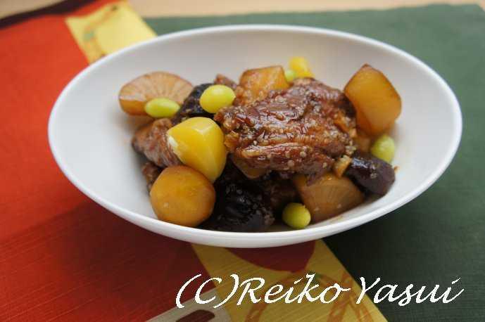 【レシピ】スペアリブと栗のチム(煮物)_d0339678_12380017.jpg