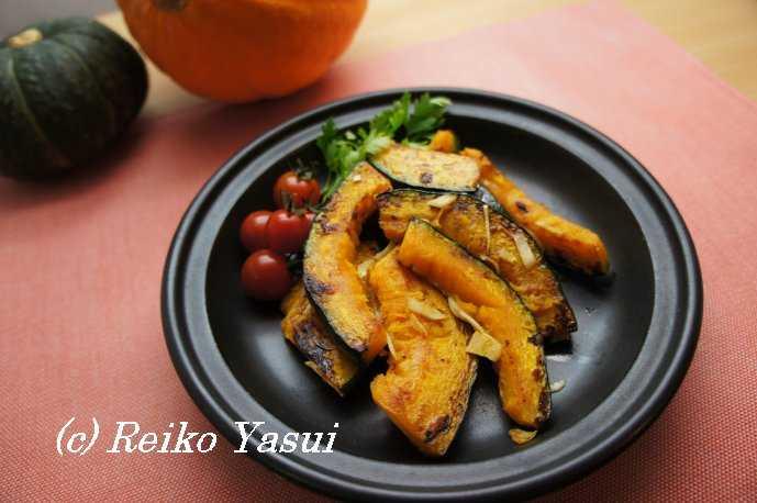 【レシピ】かぼちゃのガーリック焼き_d0339678_12381920.jpg
