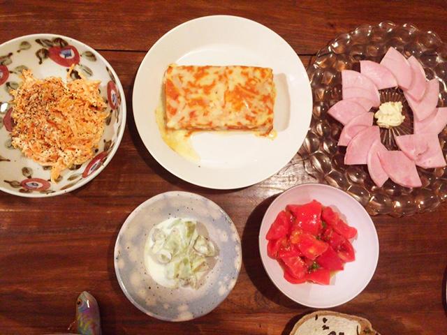 夫が作った晩御飯:ナスのヨーグルトサラダき_d0339885_12560670.jpg