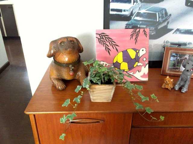 お部屋に緑とお花。宇宙の木だって。_d0339885_12563760.jpg