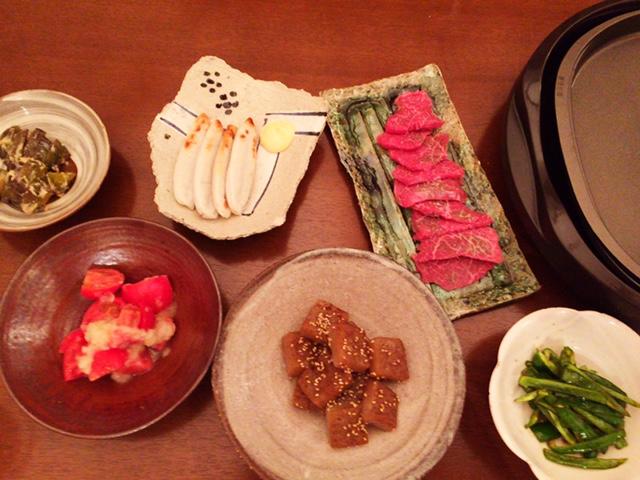 昨日の夫が作った晩御飯:焼肉_d0339885_12564693.jpg