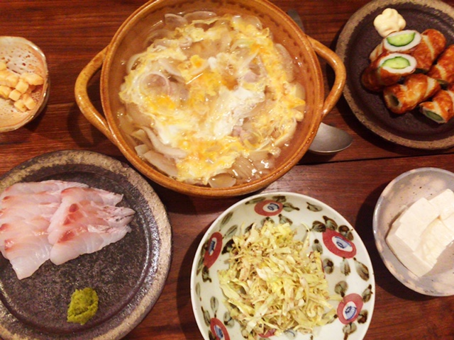 夫が作った晩御飯:百合根の卵とじ_d0339885_12570167.jpg