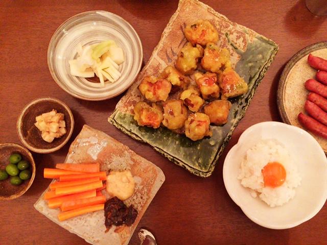 夫が作った晩御飯:カボチャの天婦羅_d0339885_12571429.jpg