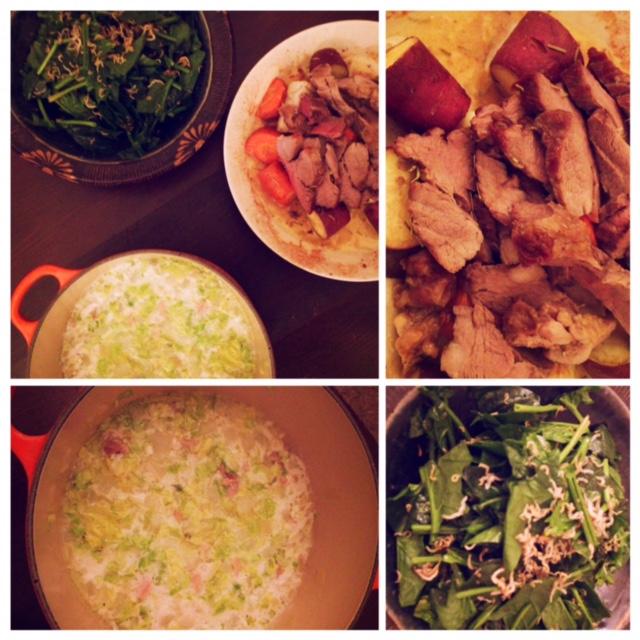 夫が作った晩御飯:豚肉のグリル_d0339885_12572831.jpg