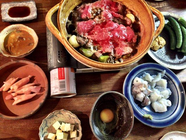 昨日の夫が作った晩御飯:すき焼き_d0339885_12573420.jpg