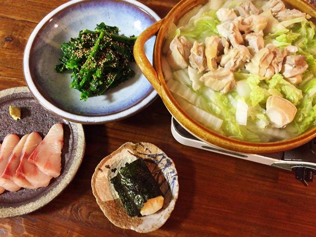夫が作った晩御飯:水炊き_d0339885_12573581.jpg