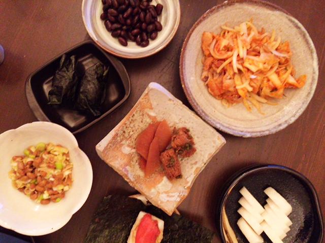 夫が作った晩御飯:明太子餅_d0339885_12574020.jpg