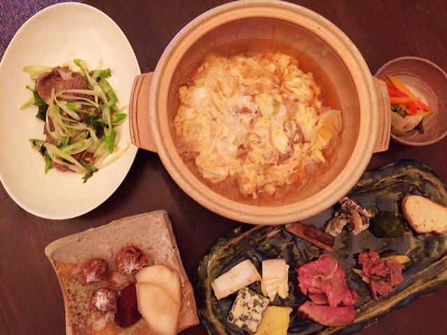 夫が作った晩御飯:百合根の卵とじ_d0339885_12574290.jpg