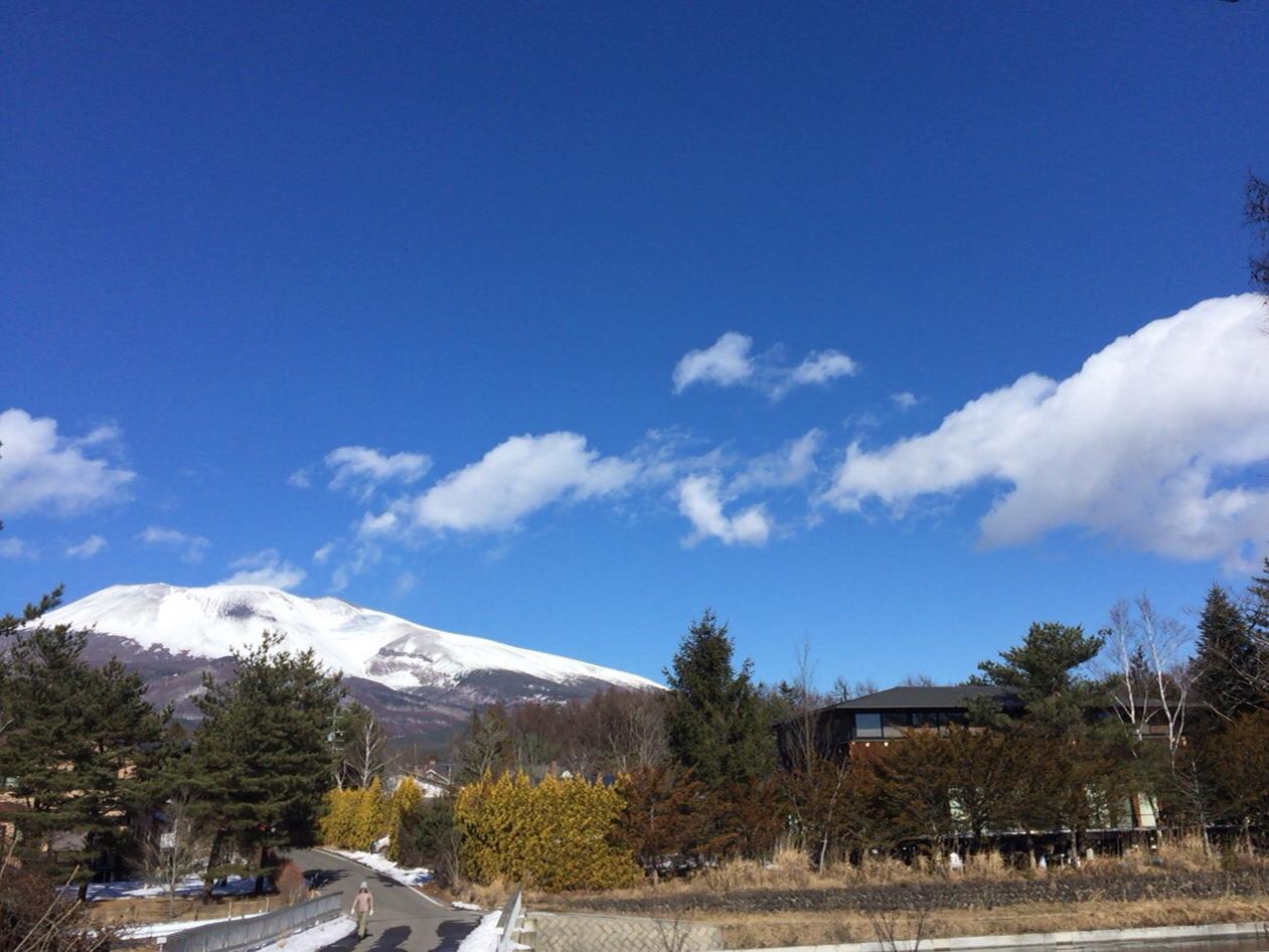 浅間山見ながらブランチ_d0339885_12574293.jpg