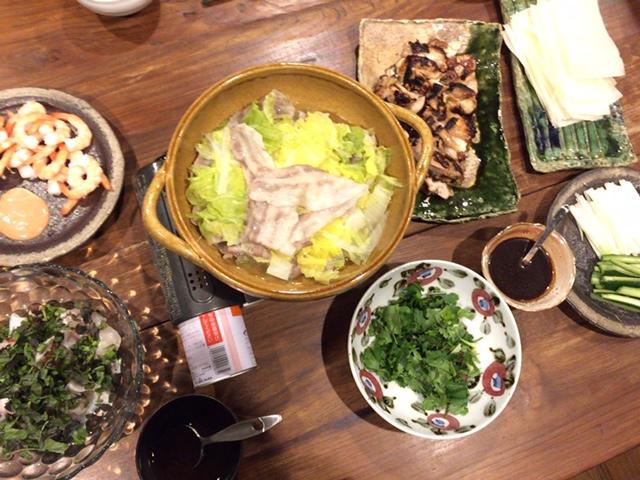 夫が作った晩御飯:北京ダック風_d0339885_12574854.jpg