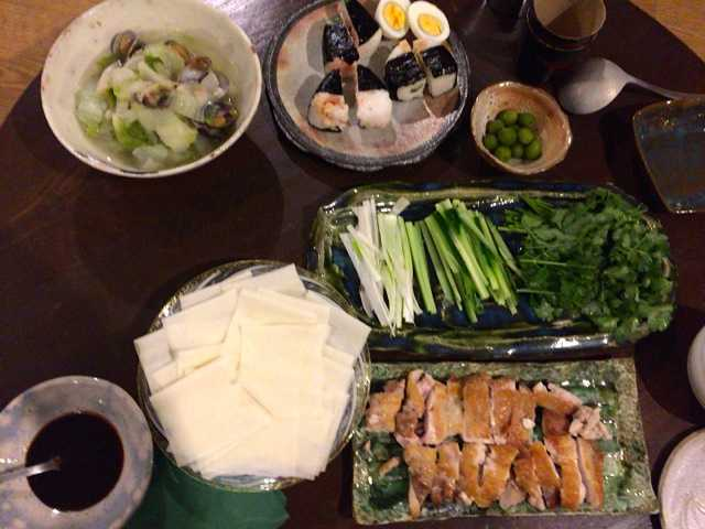 ちょっと前の夫が作った晩ご飯:北京ダック風_d0339885_12575967.jpg