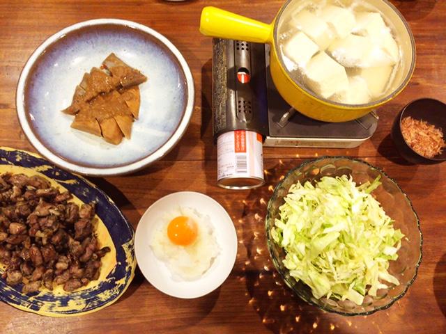 夫が作った晩御飯:湯豆腐_d0339885_12580083.jpg