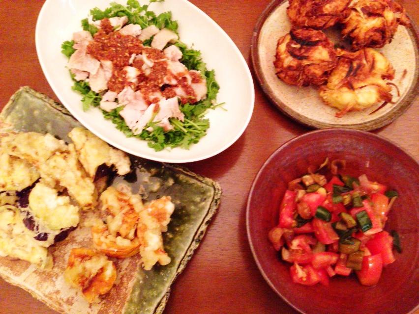 夫が作った晩御飯:よだれ鶏_d0339885_12590745.jpg