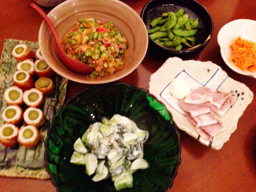 夫が作った晩御飯:ガンボスープ応用編_d0339885_12591073.jpg