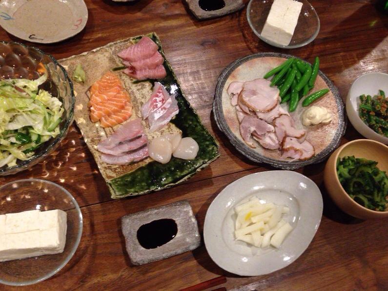 夫が作った晩御飯:ささっと10分ごはん_d0339885_13003513.jpg