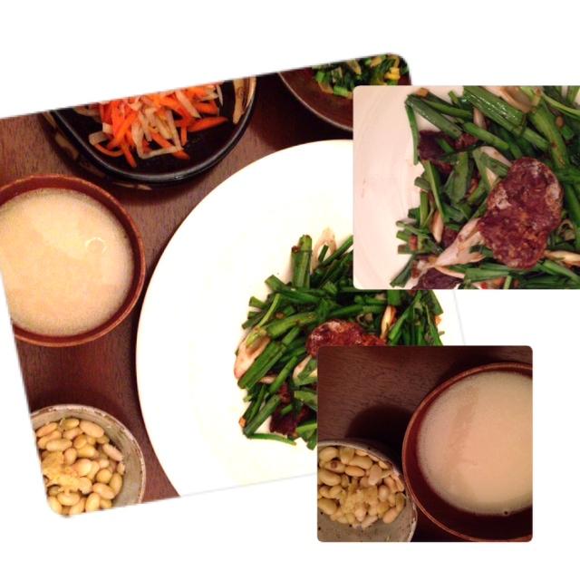 夫が作った晩御飯:レバニラ炒め_d0339885_13010260.jpg