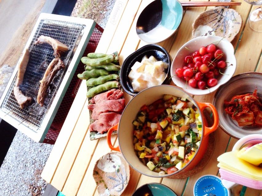 今日の夫が作った晩御飯:バーベキュー_d0339885_13010788.jpg