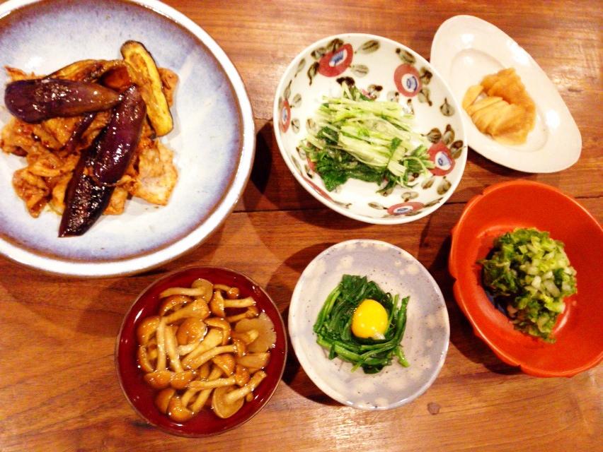 夫が作った晩御飯:三日ぶりの夫ごはんは茄子と豚肉の味噌炒め_d0339885_13014654.jpg