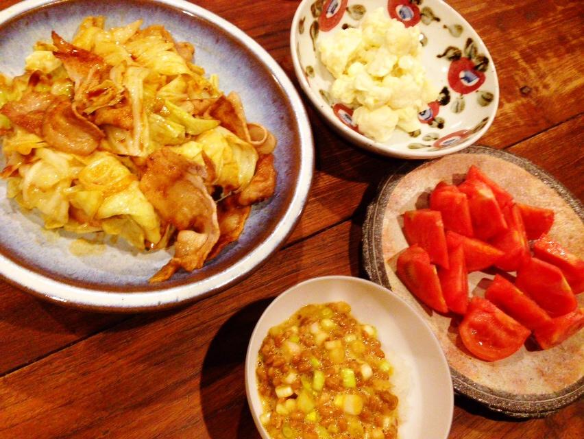 夫が作った晩御飯:回鍋肉_d0339885_13015871.jpg