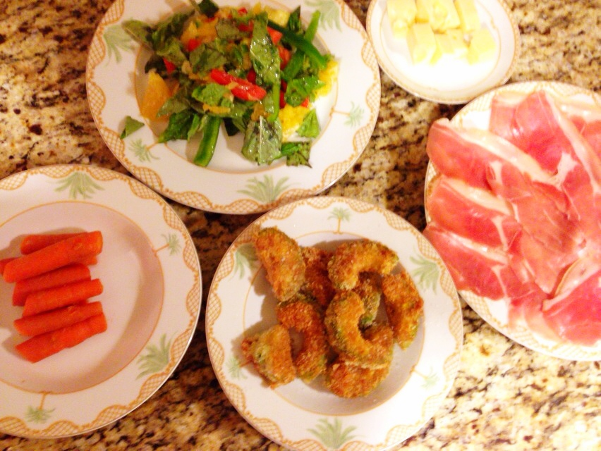 夫が作った晩御飯in Hawaii:アボカドのフライ_d0339885_13022136.jpg