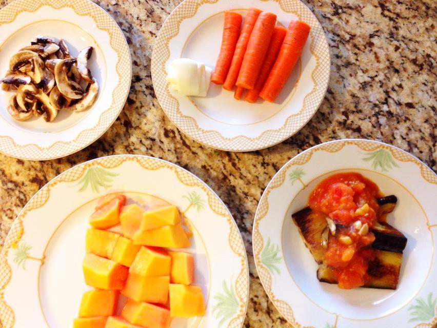 夫が作ったブランチin Hawaii:茄子のステーキ_d0339885_13022280.jpg