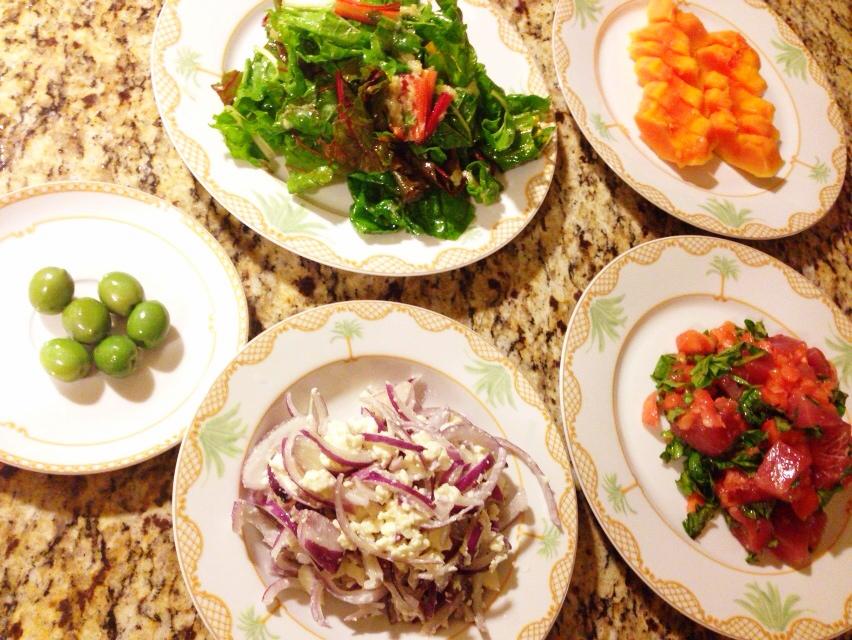 夫が作った晩御飯in Hawaii:ローフード料理_d0339885_13022487.jpg