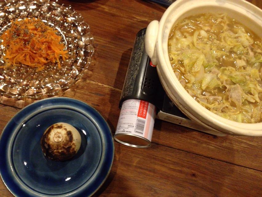 夫が作った晩御飯:カレー鍋_d0339885_13022888.jpg