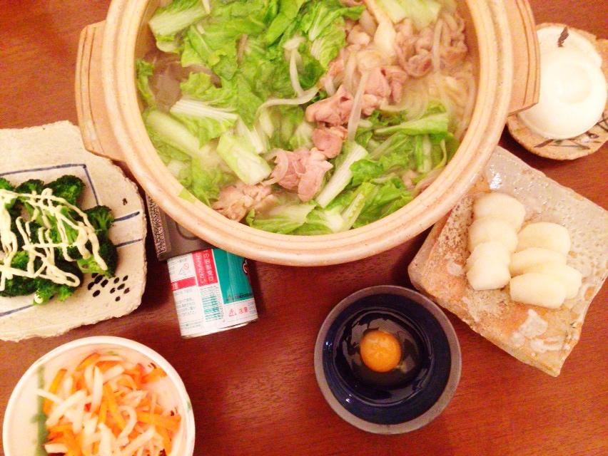 夫が作った晩御飯:美酒鍋_d0339885_13023955.jpg