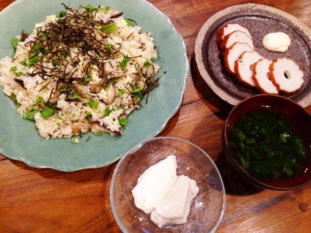夫が作ったブランチ:椎茸たっぷりちらし寿司_d0339885_13034803.jpg