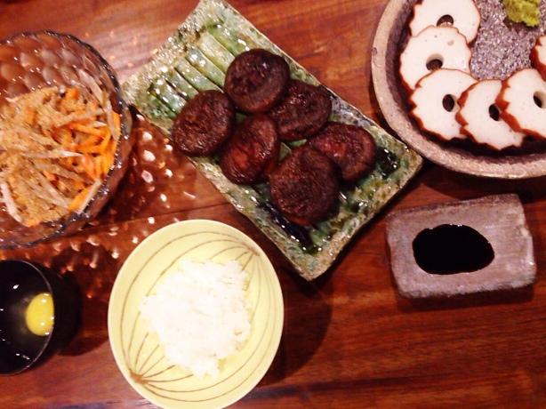 夫が作った晩御飯:原木椎茸のソテー_d0339885_13035092.jpg