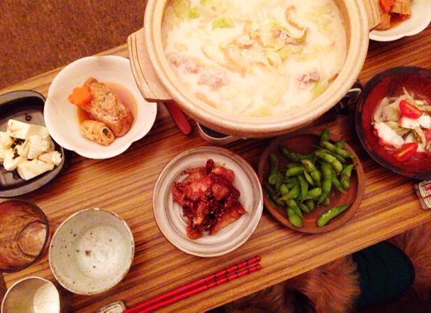 夫が作った晩御飯:ミルク鍋_d0339885_13040700.jpg